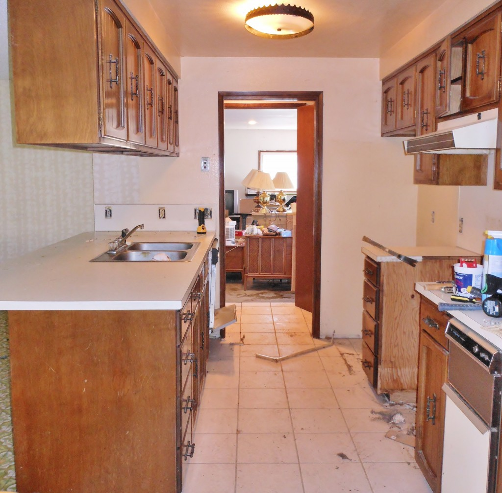 Kitchen, before remodel