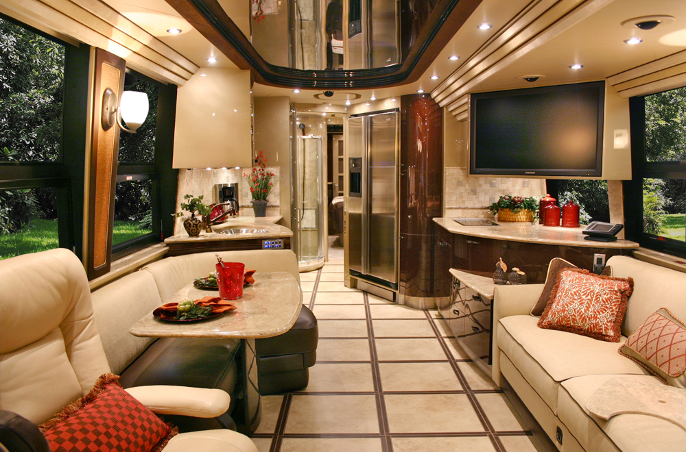 Rv interiors dlh design for Interior motorhome designs