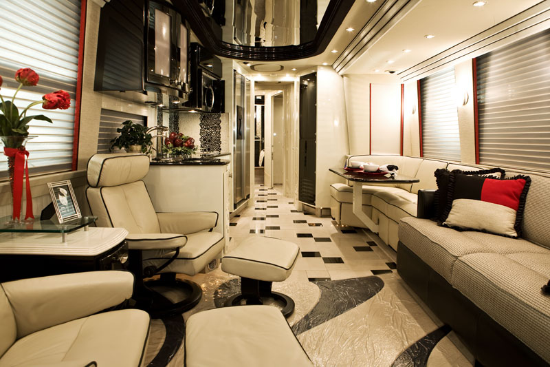 Rv interiors dlh design Tour bus interior design