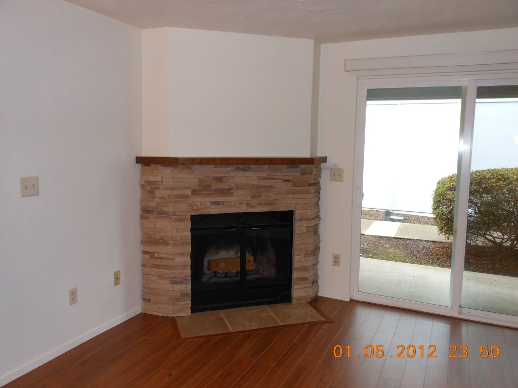 Fireplace, after remodel